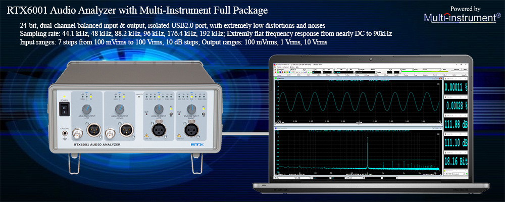 RTX6001 Audio Analyzer with Multi-Instrument Full Package | Virtins